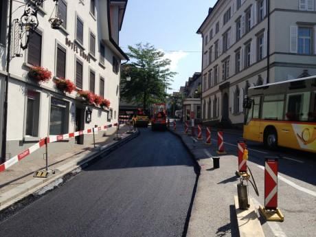 Kantonsstrasse, Uznach (1)_Wasserleitung Erneuerung
